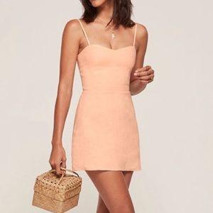 Reformation Peach Audrey Mini Dress